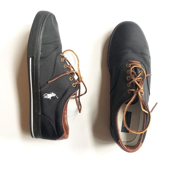 Polo Ralph Lauren Black Tennis Shoes
